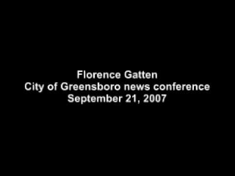 Florence Gatten, City of Greensboro news conference, Sept. 21, 2007