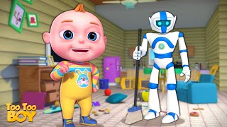 Robot Cleaning Episode   TooToo Boy   Videogyan Kids Shows   Cartoon Animation For Children