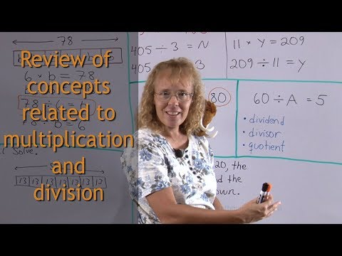 The connection between multiplication and division, simple equations, bar models, terminology
