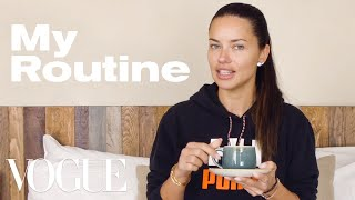 Adriana Lima's Routine for a Long-Haul Flight | On the Go | Vogue