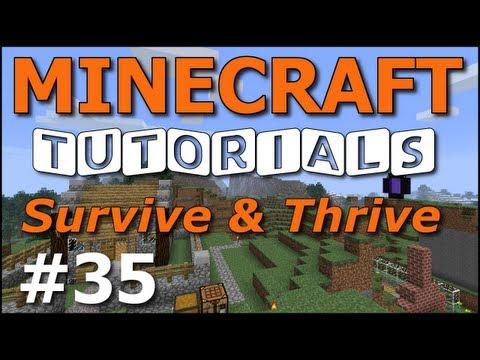 Minecraft Tutorials - E35 Nether Portal (Survive and Thrive II)