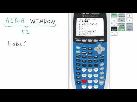 Shortcut Absolute Value TI 84 Calculator