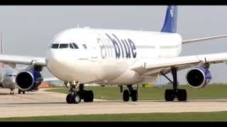 Manchester Airport 13 (HD) - Airblue Airbus A340-300 Departure: 06/05/13