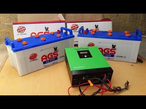 Installing New Batteries To 24V 1500 Watts Solar Inverter In Urdu/Hindi