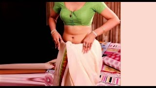 Housewife Changing Saree in Bedroom