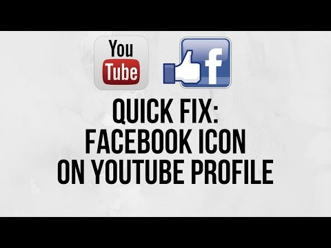 How To Setup Youtube: Get A Facebook Icon To Show Up In Your Youtube Channel Links