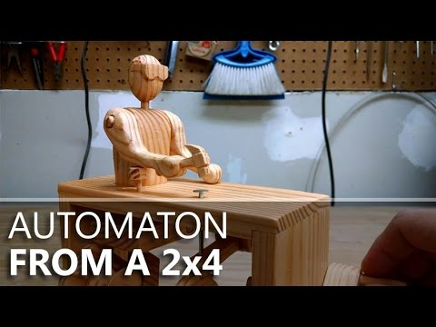 Stanley, the Hammering Automaton: Built from a 2x4 and one nail.