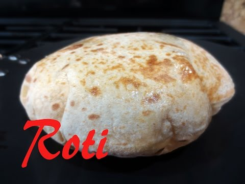 How to make soft round puffed up roti/chapati/fulka (on griddle and on open flame)| Poonam's Kitchen