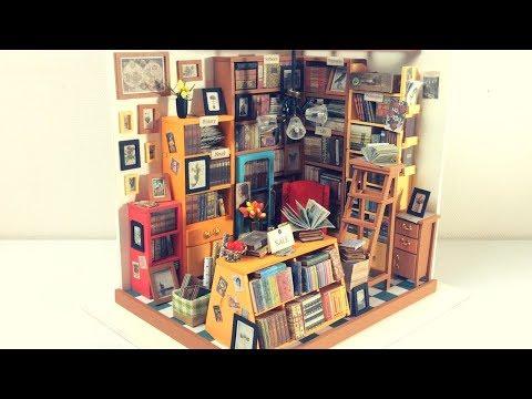 DIY Miniature Dollhouse Kit SAM'S STUDY