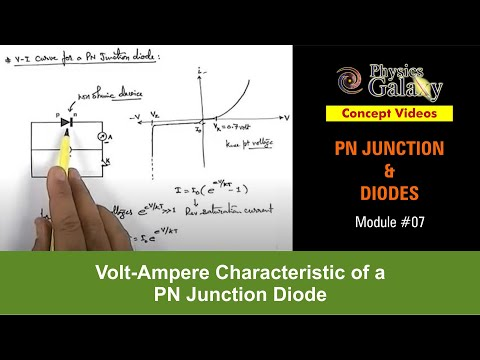 7. Physics | PN Junction & Sem Diodes | Volt-Ampere Characteristic of a PN Junction Diode