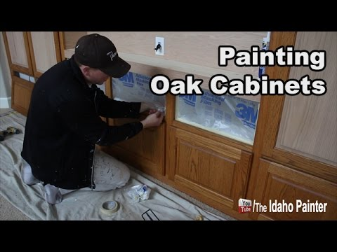 How to paint oak cabinets FAST/EASY