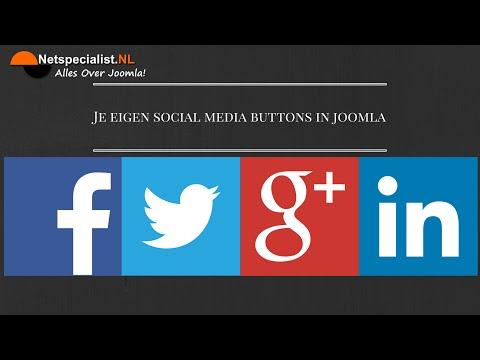 eigen social media buttons in joomla