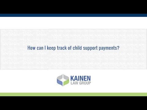 How can I keep track of child support payments?