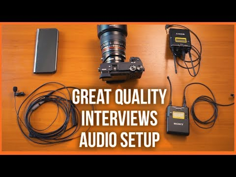 Sony A6300 Mic for interviews - Best audio settings
