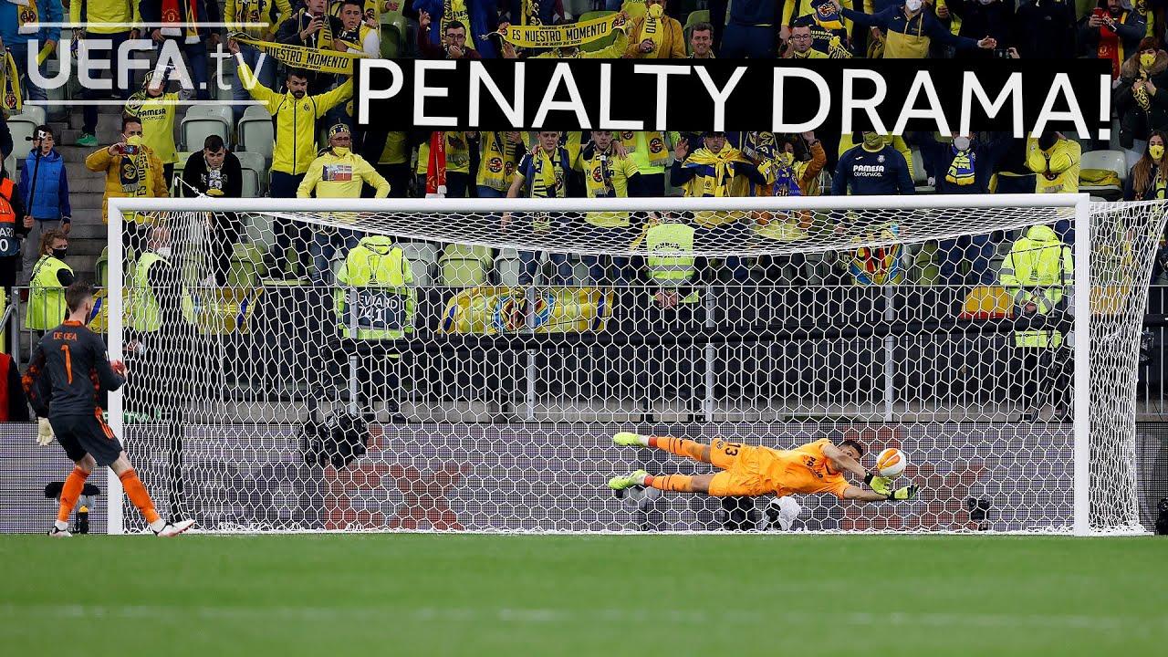 VILLARREAL, MAN. UNITED, #UEL FINAL | The full penalty shootout