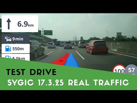 SYGIC 17.3.25 - TEST DRIVE Real Traffic & Real View Navigation | Mei 2018