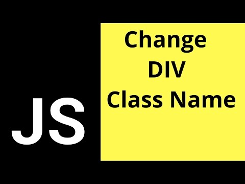 JavaScript - How To Change Element Class Name In JS  [ with source code ]