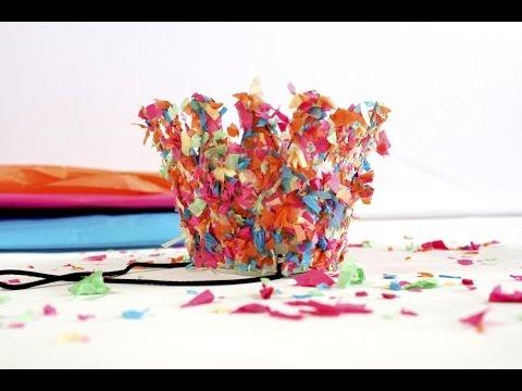 DIY Confetti Party Hats