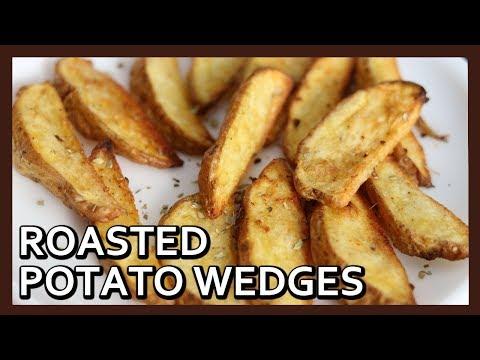 Roasted Garlic Potato Wedges   Crispy Potato Wedges   French Fries in Airfryer   Healthy Kadai
