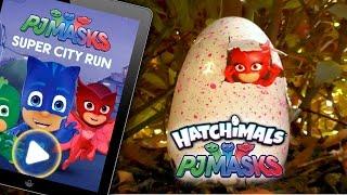 "PJ Masks Hatchimals ❤️ NEW ☠ ""Super City Run"" Game Surprise"
