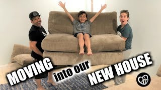 MOVING IN TO OUR NEW HOUSE | Moving Furniture Into Our New Home | Sleeping In Our New House