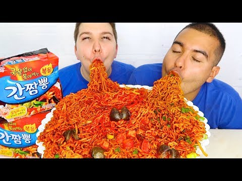 DELICIOUS SPICY SEAFOOD KOREAN JJAMPPONG INSTANT RAMEN NOODLES 짬뽕 라면 먹방 • Mukbang & Recipe