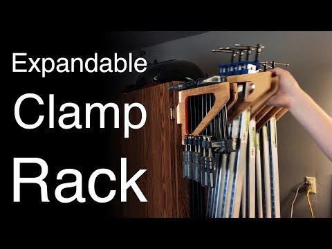 Easy DIY Clamp Rack with French Cleats - Expandable - How To