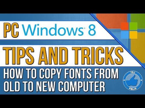 PC Computer Tips: How to Copy Windows Fonts Files from One Computer to Another