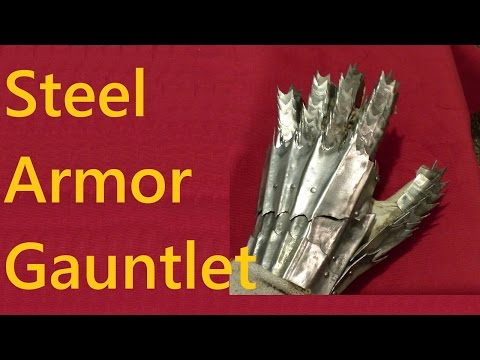 Steel Armor Gauntlets Homemade, Lord of the Rings Inspired