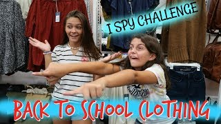 I'LL BUY WHATEVER YOU SPY BACK TO SCHOOL CLOTHING CHALLENGE! EMMA AND ELLIE