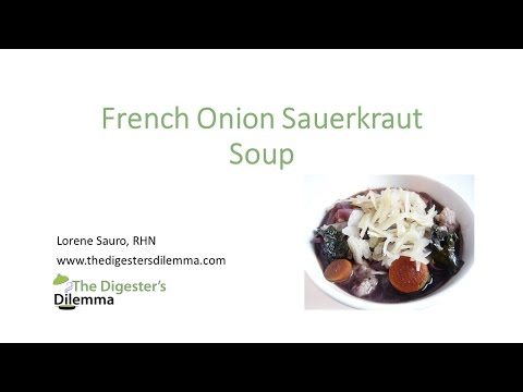 French Onion Sauerkraut Soup