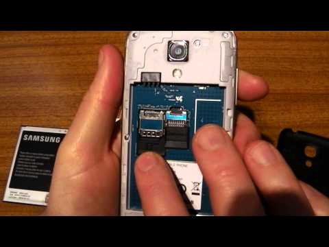 How to put a SIM into the Samsung Galaxy S4 Mini