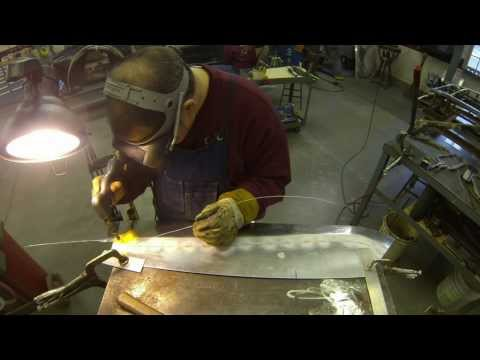 Gas welding Aluminum .Sollis metal shaping & fabrication .