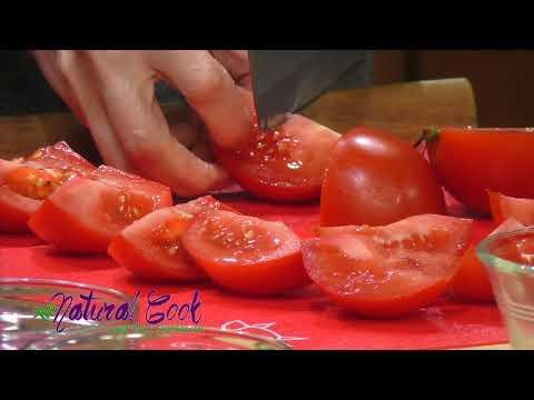 Tomato Soup with Croutons, Arugula and Pecorino, Tomato Salad