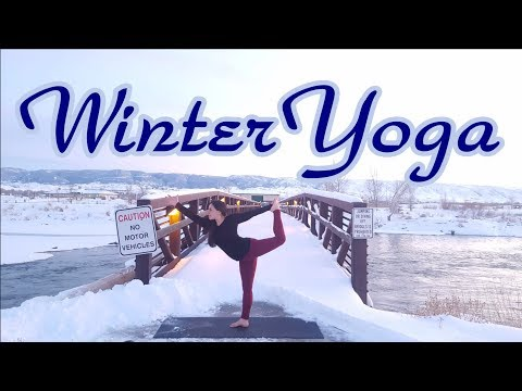 Wyoming Winter Yoga an introduction to my channel