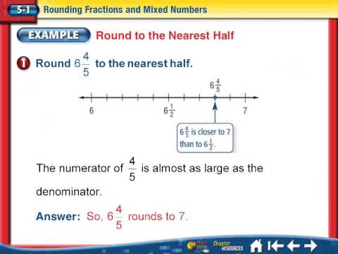Rounding Fractions and Mixed Numbers