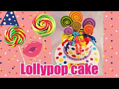 Saludando 😁lollypops Cake /pastel De Paletas