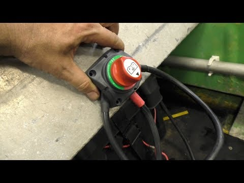Installing dual batteries on a boat