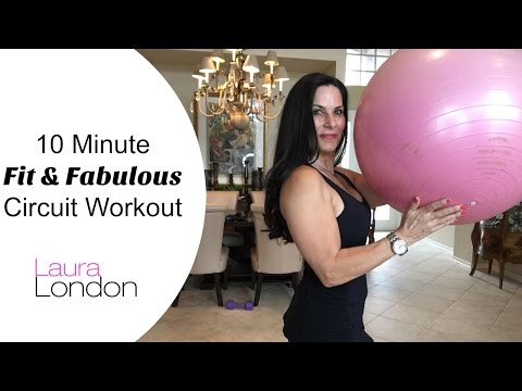 10 Minute Fit & Fabulous Circuit Workout | Laura London Fitness