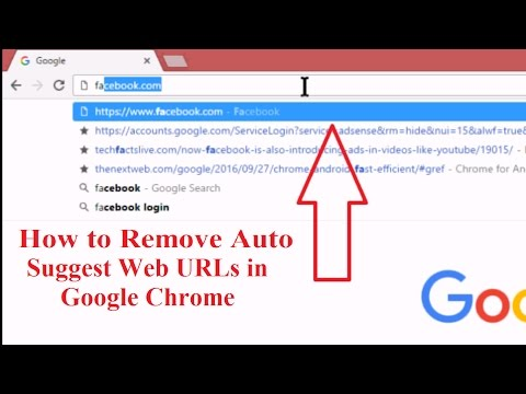 How to Remove Auto Suggest URLs in Chrome