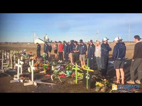 Steinbach Pistons Stop At Humboldt Broncos Crash Site