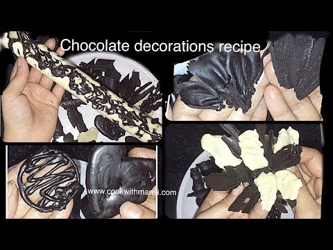 How to make chocolate decoration at home - Recipe in hindi - Chocolate making tutorial
