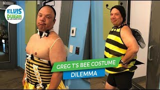 Greg T's Bee Costume Dilemma….Bee 1 OR Bee2? | Elvis Duran Exclusive