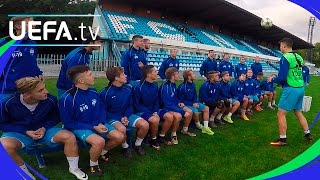 Youth League skills challenge - Nitra take the test