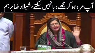 Shehla Raza And Khawaja Izhar Ul Hasan Fight In Sindh Assembly