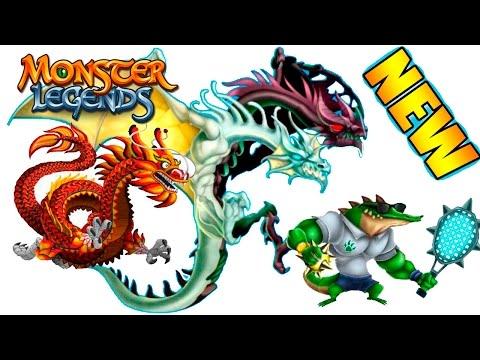 Ao Loong, La Croc, Daganth -  Лабиринт драконов 1 Monster Legends