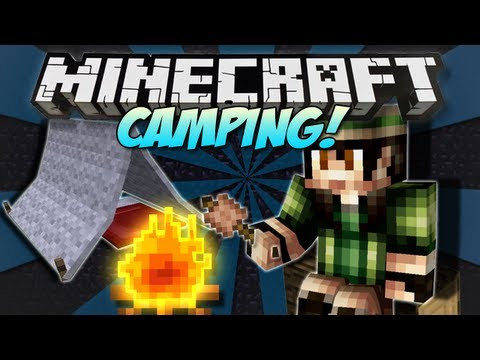 Minecraft | CAMPING! (Tents, Fires & Marshmallows!) | Mod Showcase [1.4.7]