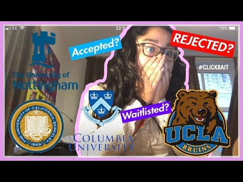 COLLEGE DECISION REACTIONS 2018 (UK and US)