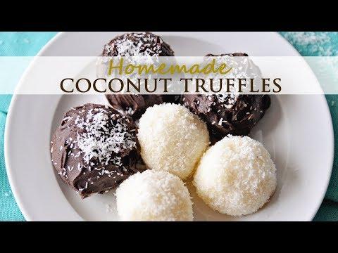 Homemade Chocolate and Coconut Truffles - Easy Recipe