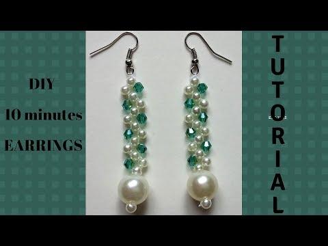 How to make earrings. DIY elegant earrings. Beaded earrings tutorial.
